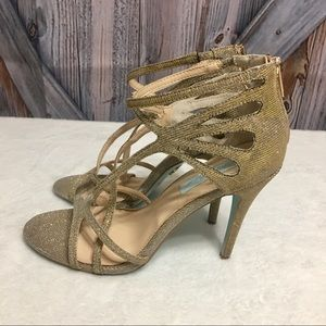 Betsy Johnson Talia Gold Sparkle Heels
